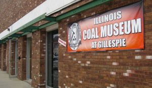 The museum is set up in the old bank building in downtown Gillespie. - Labor Tribune photo.